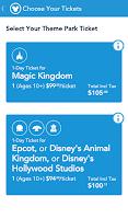 Screenshot of My Disney Experience