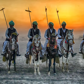 Warriors  by Abdul Rehman - People Street & Candids ( brave, natural light, sand, angry, sport, dangerous, rural, rural sports, dusty, pakistan, multan, tent pegging, adventure, thrilling, dangerous sport, sunset, dust, sun light, light, natural, culture )