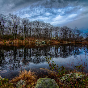Darkening Calm by Jason Weagle - Landscapes Waterscapes ( hdr )