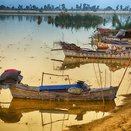 Indus by Abdul Rehman - Transportation Boats ( boating, water, pakistan, punjab, waterscape, flood, boats, fishing, river )