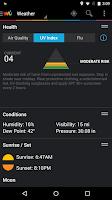 Screenshot of Weather Underground