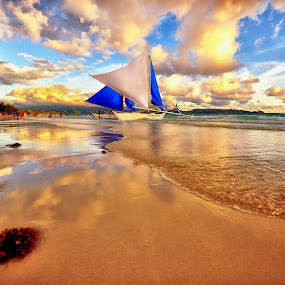 Beach Travel by Abet Rhupert - Landscapes Beaches ( holiday, nature, sailing, boracay, beach, travel, waterscapes )