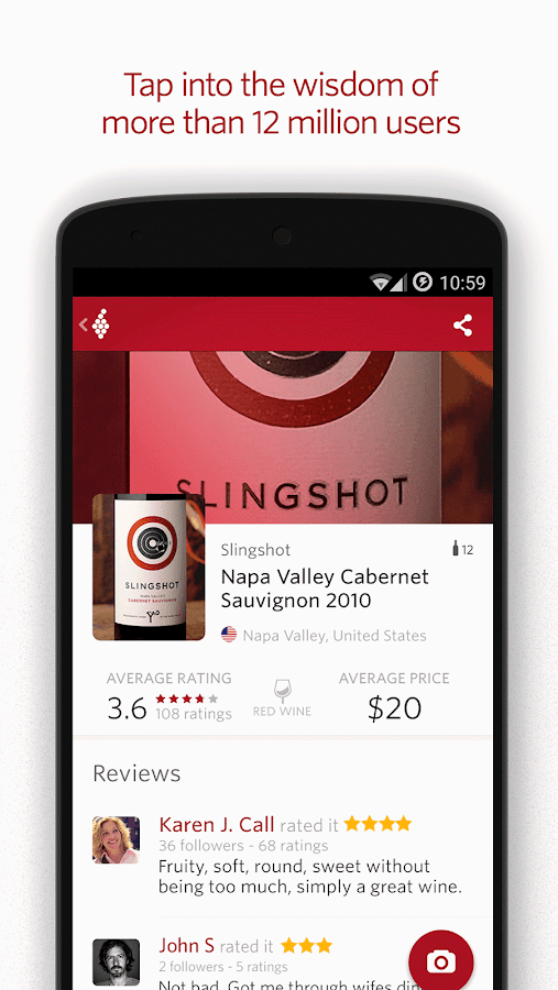 Vivino Wine Scanner Screenshot 1