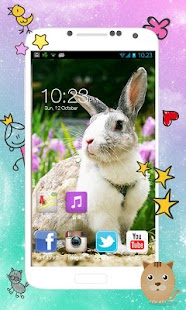 Beautiful Rabbit Background - screenshot