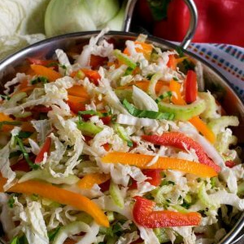 Easy Napa Cabbage Slaw