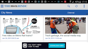 Screenshot of The Hindu News (Official app)