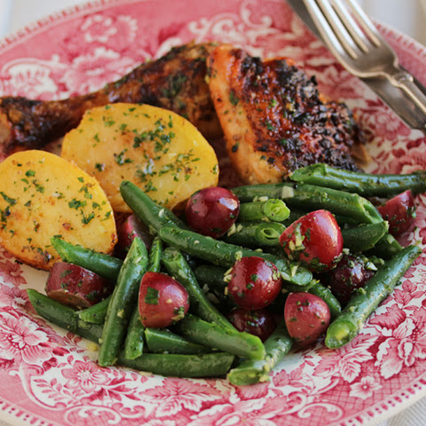 Green Beans & Grapes with Persillade