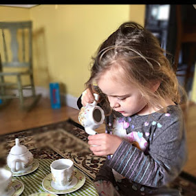 Iza... Tea time... by Diane Beique-Jacques - Babies & Children Children Candids