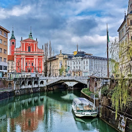 Ljubljana, Slovenia by Bernarda Bizjak - City,  Street & Park  Historic Districts