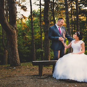 M&A by Vlada Jovic - Wedding Bride & Groom ( love, beograd, brideal session, forest, bride and groom, bride, photo, groom, photography )