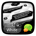 (FREE)GO SMS BLACK&WHITE THEME APK for Bluestacks