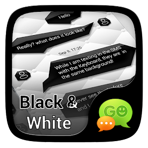 (FREE)GO SMS BLACK&WHITE THEME App icon