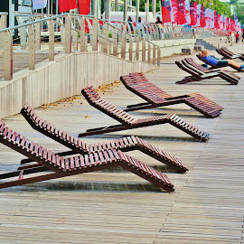 Wooden Chairs by Koh Chip Whye - City,  Street & Park  City Parks (  )