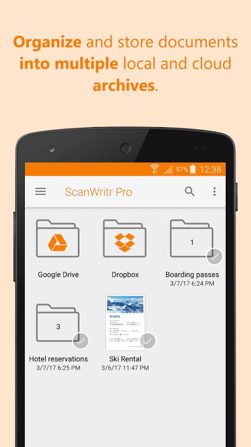 ScanWritr Pro: docs, scan, fax Screenshot 4