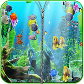 Aquarium Zipper Screen lock APK for Bluestacks