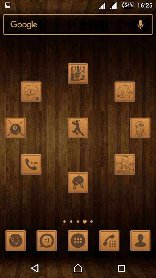Wooden Icons Brown Screenshot 4