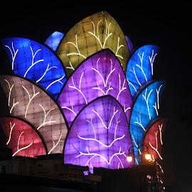 Unique Building by Ashwini Attri - City,  Street & Park  Markets & Shops ( mood factory, color, lighting, moods, colorful, light, bulbs, mood-lites )