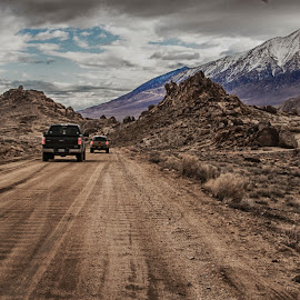 Out for a Drive by Richard Michael Lingo - Landscapes Mountains & Hills ( alabama hills, hills, mountains, sierra nevada, california, landscape )