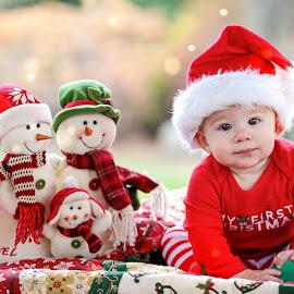 Alex by Tony Bendele - Babies & Children Child Portraits ( child, people portrait, happy, children, santa hat, fun, cute, hat )