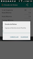 Screenshot of Escala de Notas