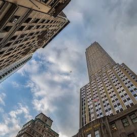 Ню Йорк by Nadejda Daneva - Buildings & Architecture Office Buildings & Hotels ( ню йорк, ih, empire state building, самолет, сгради )
