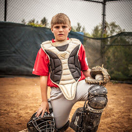 Protect this Plate- I WILL  by Angela Sweeney Sellards - Sports & Fitness Baseball ( catcher, baseball, youth, little league )