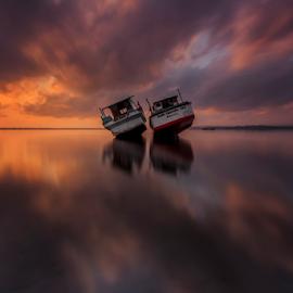 Duet by Choky Ochtavian Watulingas - Landscapes Waterscapes ( clouds, sky, dawn, reflections, long exposure, sunrise, seascape )
