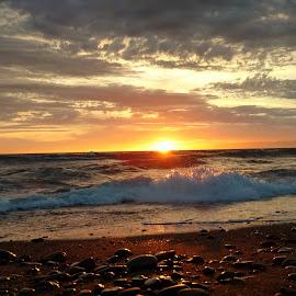 Rocky sunset by Gene Richardson - Landscapes Sunsets & Sunrises
