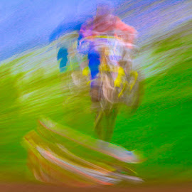 by Jim Jones - Abstract Light Painting ( motorcycle, art, color, motocross, abstract, colorful )