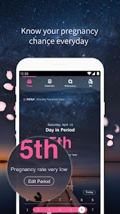 Period Calendar Rosa - Track Menstrual Cycle