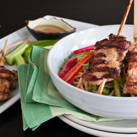 Peanut-Sesame Noodles and Chicken or Tofu Satays