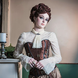Victorian by Kerri Jean - People Fashion ( model, corset, victorian, conceptual, steampunk )