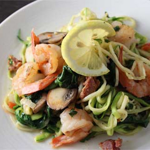 Shrimp and Scallop Zoodle Saute