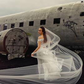 Aircraft wedding by Michaela Firešová - Wedding Bride ( wedding, aircraft, bride )