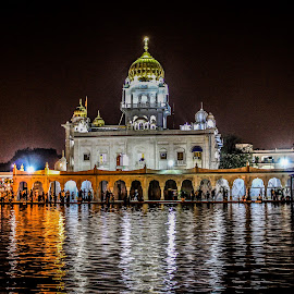 Gurudwara in Delhi by Swapnil Keshari - Buildings & Architecture Places of Worship ( picoftheday, bestoftheday, religiou, night, religious place, gurudwara,  )