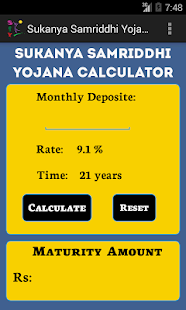 Sukanya Samridhhi Calculator - screenshot