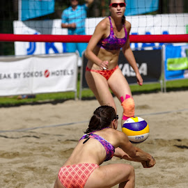 Beach volley by Simo Järvinen - Sports & Fitness Other Sports ( playing, female, woman, outdoor, beach volley, action, sports, summer )