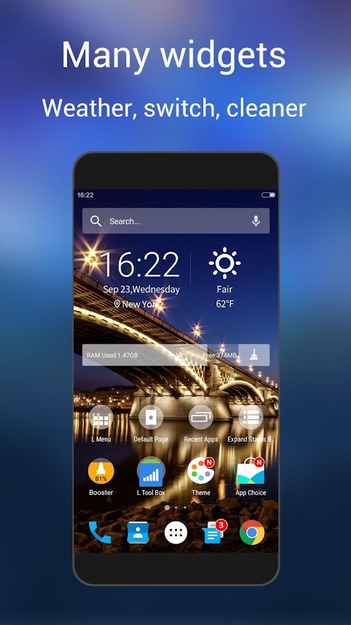 L Launcher -Marshmallow Launch Screenshot 6