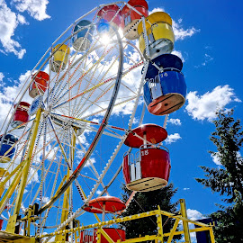 Fair Time by Barbara Brock - City,  Street & Park  Amusement Parks ( fairgrounds, amusement park, carnival ride, ferris wheel )
