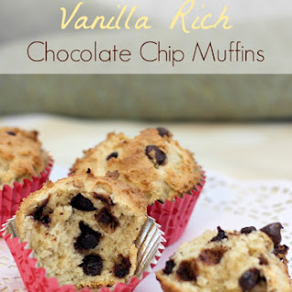 Vanilla Rich Chocolate Chip Muffins