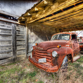Keep On Truckin' by Kent Moody - Transportation Automobiles ( vintage, chevrolet, texas, chevy, rural )