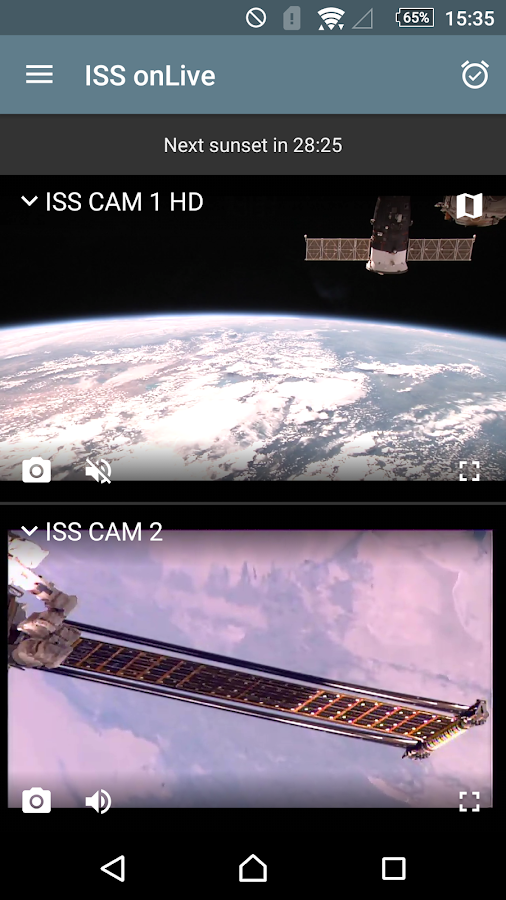 ISS onLive: Live Earth cameras Screenshot 2