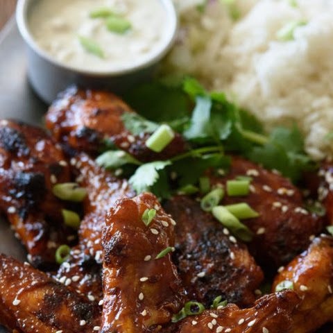 Crispy Baked Chicken Wings with Sticky Honey Garlic Sauce