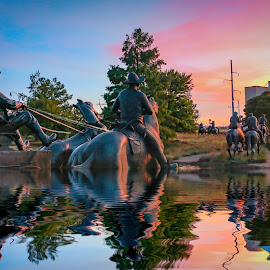 River Crossing Memorial by Kathy Suttles - Digital Art Places
