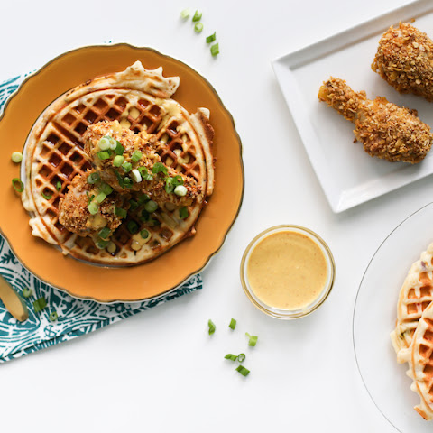 "Fake ""Fried"" Chicken and Waffles"