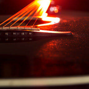 Passion by Javier Luces - Artistic Objects Musical Instruments ( music, concert, red, performance, guitar, strings, close-up,  )