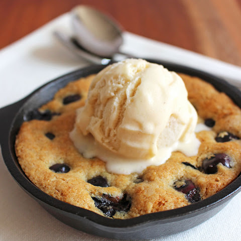 Blueberry Lemon Skillet Cookie for Two
