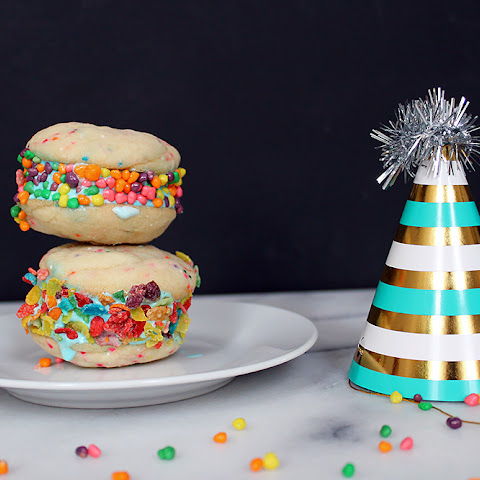 Funfetti Birthday Cake Ice Cream Sandwiches