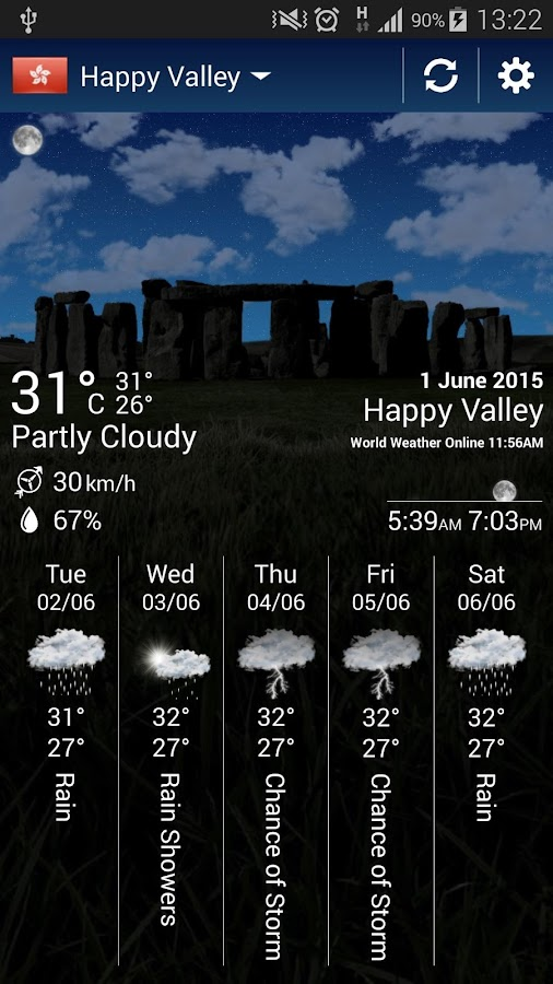 cliMate Animated WeatherWidget Screenshot 1