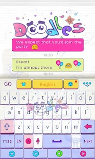 Doodles-GO-Keyboard-Theme 3